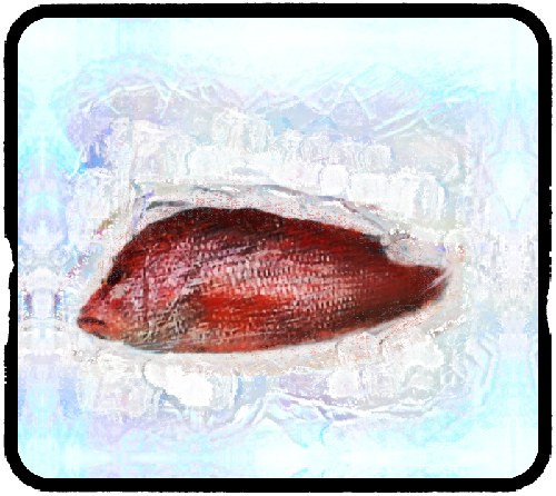 red snapper on ice